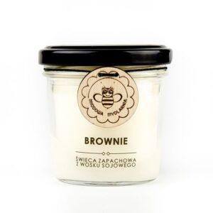 MIODOWA MYDLARNIA Świeca sojowa Brownie